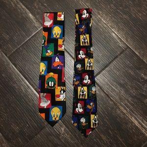 Mickey Mouse Warner Bros. Looney Toons Ties